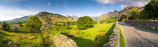 Lake District, Cumbria, UK. Mountains and meadows in Cumbria, Uk Stock Photos