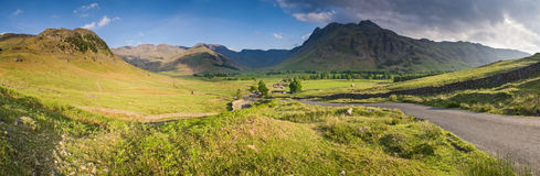 Lake District, Cumbria, UK. Mountains and meadows in Cumbria, Uk Royalty Free Stock Images