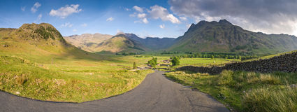 Lake District, Cumbria, UK. Mountains and meadows in Cumbria, Uk Royalty Free Stock Photos