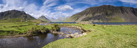 Lake District, Cumbria, UK. View of Wast Water towards the screes of Yewbarow and Great Gable in the Lake District Stock Photo