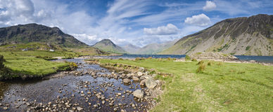 Lake District, Cumbria, UK. View of Wast Water towards the screes of Yewbarow and Great Gable in the Lake District Stock Images