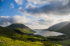 Lake district. Evening an sunset on Lake district, Scafel pike Stock Image