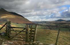 Lake District Gate Stock Images