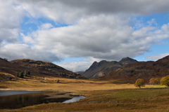 Lake District landscape in Cumbria, England. Blea Tarn in the Autumn stock image