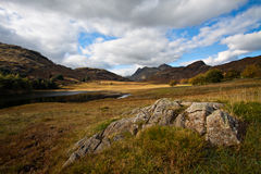 Lake District landscape in Cumbria, England. Stunning view in the Lake District Stock Photography