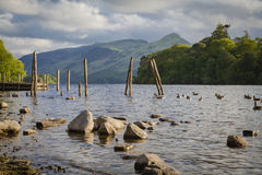 Lake District landscape. Derwentwater lake in Lake District, Cumbria Stock Images