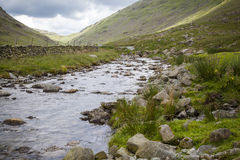 Lake District landscape. A landscape with river near the Hardknott pass in Lake District Stock Photography