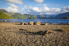 Lake District landscape. On the shores of Derwentwater near Keswick Stock Image