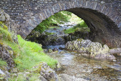 Lake District landscape. A stone bridge with river near the Hardknott pass in Lake District Royalty Free Stock Photos