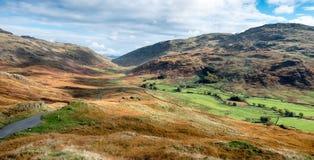 Lake District Mountain Pass Royalty Free Stock Photos