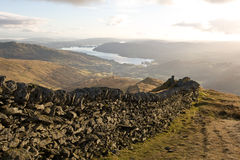 Lake District Mountain Wall Royalty Free Stock Photos