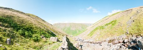 Lake District, in the Mountains - panorama Royalty Free Stock Photography