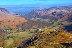 Lake District National Park. Looking down Borrowdale in the English Lake District National Park, Cumbria Stock Photography