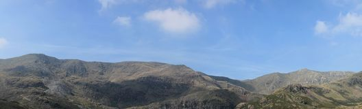 Lake District National Park Cumbria Coniston Old Man Panorama Royalty Free Stock Photos