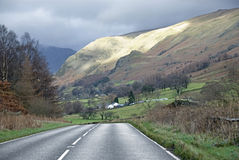 Lake District national park scenic car drive Royalty Free Stock Photos