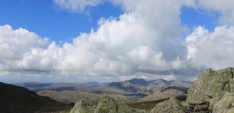 Lake District National Park Landscape Panorama Cumbria England Stock Photo