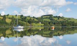The Lake District popular beautiful English tourist destination Ullswater Cumbria North England in summer. The Lake District popular beautiful UK tourist Stock Image