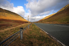 Lake District road. Road in the Lake District (Cumbria), England Royalty Free Stock Photo