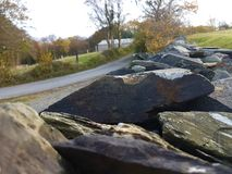 Lake District Rocks. A picture focused on the magnificent slate walls found throughout cumbria Royalty Free Stock Photo