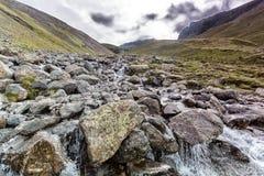Lake district scafell pike climb Royalty Free Stock Photo