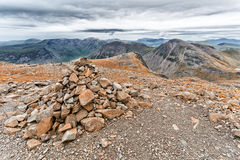Lake district scafell pike climb Stock Photography