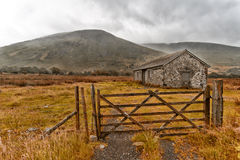 Lake district scafell pike huts and buildings Royalty Free Stock Photo
