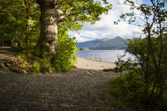 Lake District. On the shores of Derwentwater near Keswick Royalty Free Stock Images