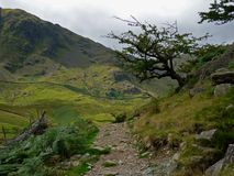 Lake district view of the fells from Haweswater. Royalty Free Stock Photography