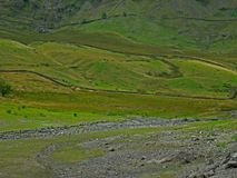Lake district view of the fells from Haweswater. Royalty Free Stock Photos