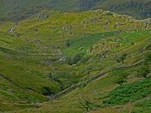 Lake district view of the fells from Haweswater. Stock Photo
