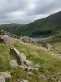 Lake district view of the fells and Haweswater. Stock Image