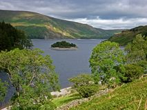 Lake district view of the fells, Wood Howe and Haweswater. Royalty Free Stock Images