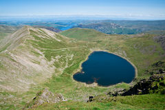 Lake District, View from Helvellyn. Landscape of the Lake District National Park from the top of Helvellyn Stock Photography