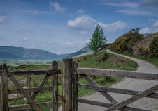 Lake District Walk. Path leading to Latrigg in the Lake District Royalty Free Stock Images