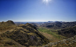 The Lake District. Wide angle landscape shot looking over the Lake District, Cumbria Stock Photo