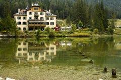 Lake Dobbiaco Dolomites Italy Royalty Free Stock Photos