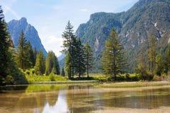 Lake Dobbiaco (Toblach, Sudtirol) Royalty Free Stock Photo