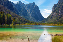 Lake Dobbiaco Royalty Free Stock Images