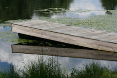 Lake Dock. A dock taken at a lake Stock Images