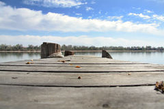 Lake Dock. Lake view from a dock stock photos