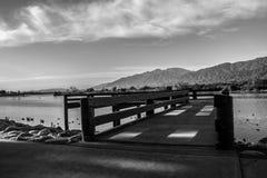 Lake Dock, Black and White Stock Photos