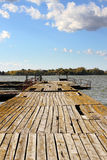 Lake dock Stock Image