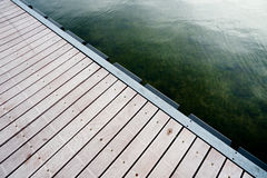 Lake dock. For recreational boating stock images