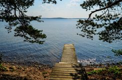 Lake dock Royalty Free Stock Images