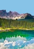 Lake in Dolomites Royalty Free Stock Photos