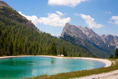 Lake in the Dolomites Royalty Free Stock Photography