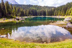 Lake in Dolomites Stock Images