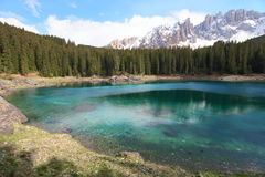 Lake at Dolomites Royalty Free Stock Images
