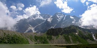 Lake of Donguz-Orunkel. Near Elbrus, North Caucasus Mountains, Russia Royalty Free Stock Photo