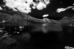 Lake Dove Tasmania Black and White Royalty Free Stock Photos